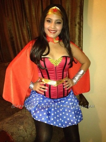 Pretty Handmade Wonder Woman Costume