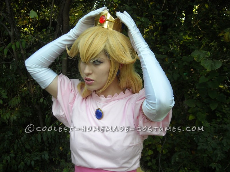 Coolest Homemade Princess Peach Toadstool Costume - All Hand Sewn!