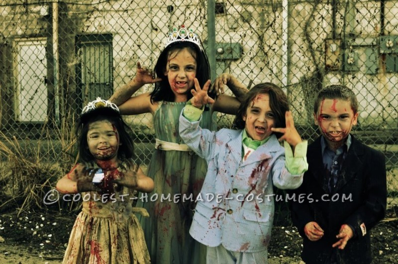 Prom Night Gone Bad Zombie Family Costume - 1