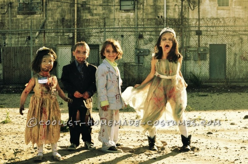 Prom Night Gone Bad Zombie Family Costume