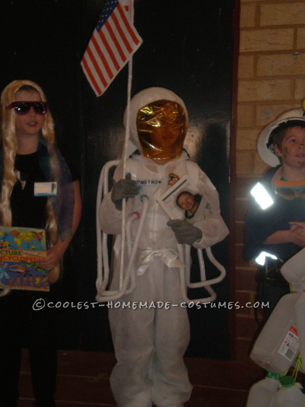 Homemade Astronaut Costume in Honor of Neil Armstrong