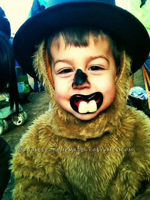 Punxsutawney Phil Groundhog Costume for a Toddler - 2
