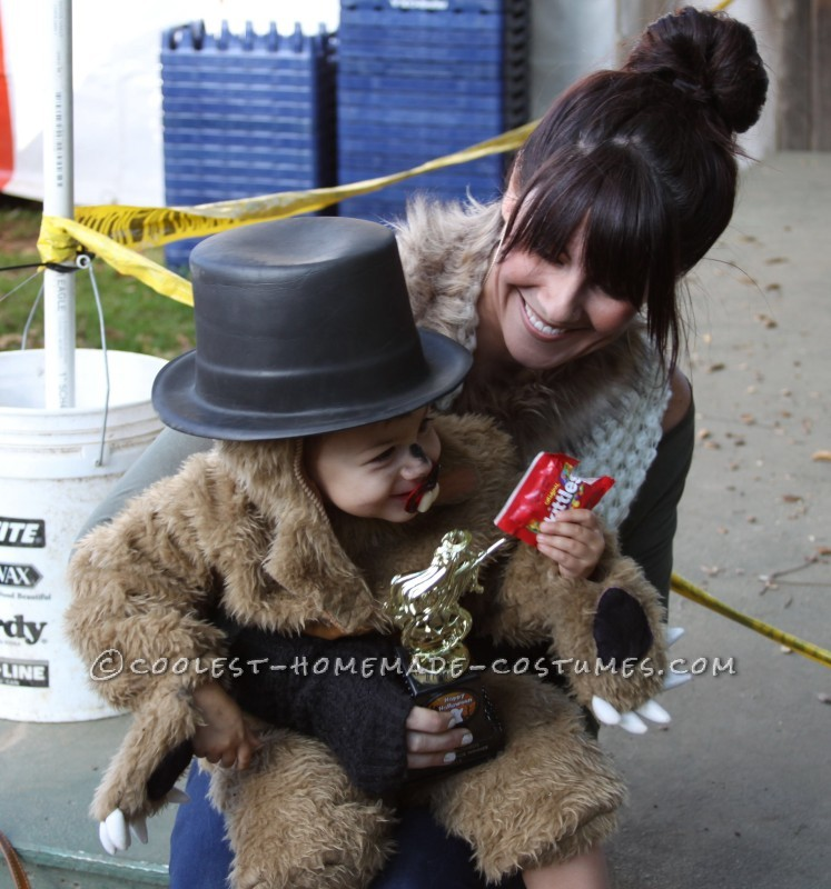 Punxsutawney Phil Groundhog Costume for a Toddler - 3