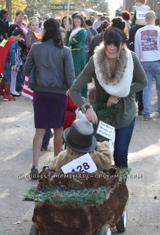 Punxsutawney Phil Groundhog Costume for a Toddler - 4