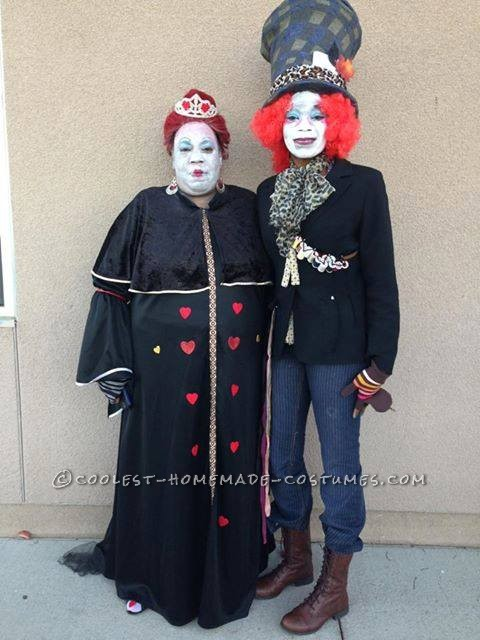 Queen of Hearts and the Mad Hatter Couple Costume