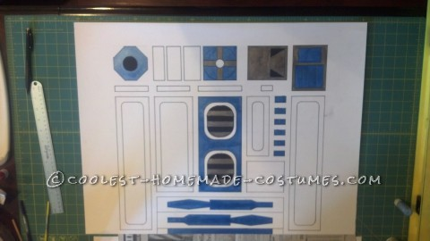Cool R2-D2 Costume for a Boy