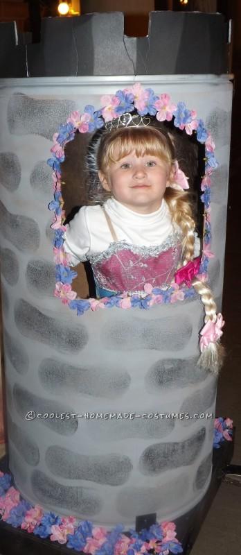 Contest-Winning Rapunzel Halloween Costume for a Girl