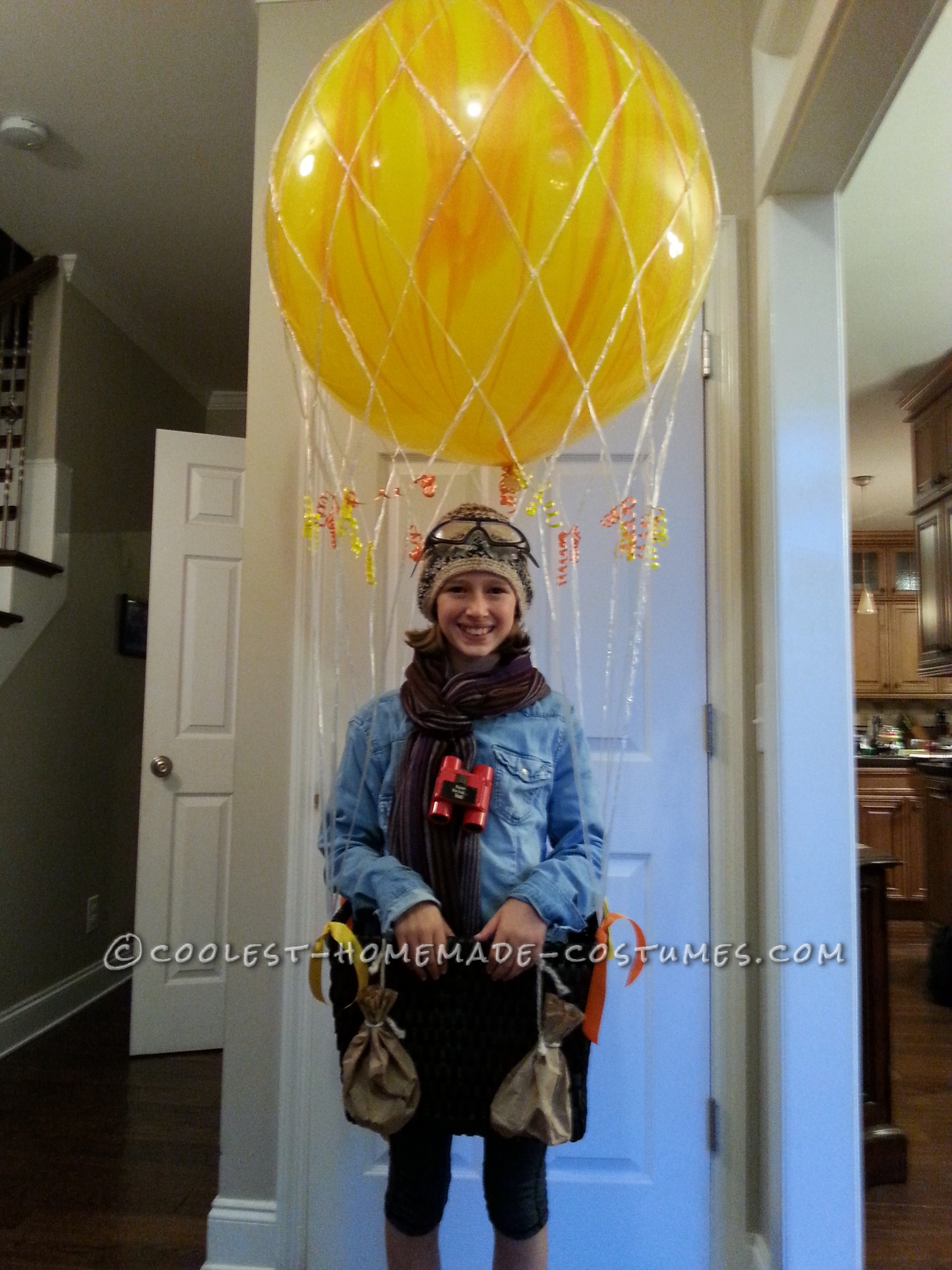 Cool Homemade Hot Air Balloon Costume: Ready for Liftoff