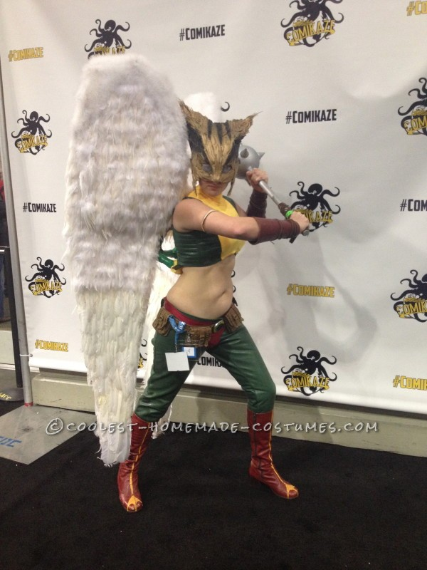Realistic and Fun Hawkgirl Costume - Made With No Special Tools!