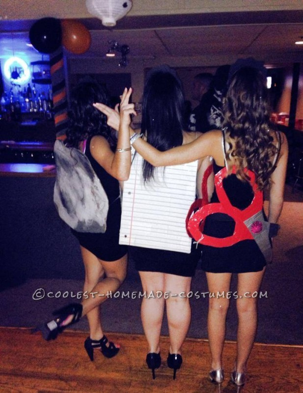 Cheap and Sexy Girl Group Costume: Rock, Paper and Scissors - 1