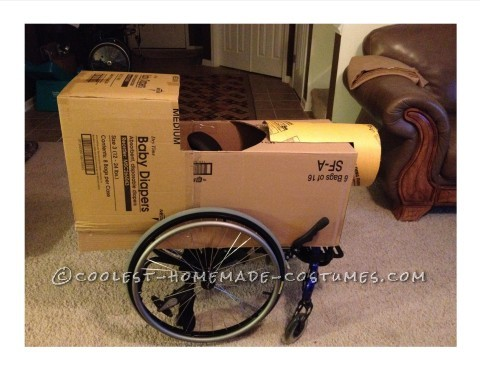 Rolling Thomas the Tank Engine Wheelchair Costume