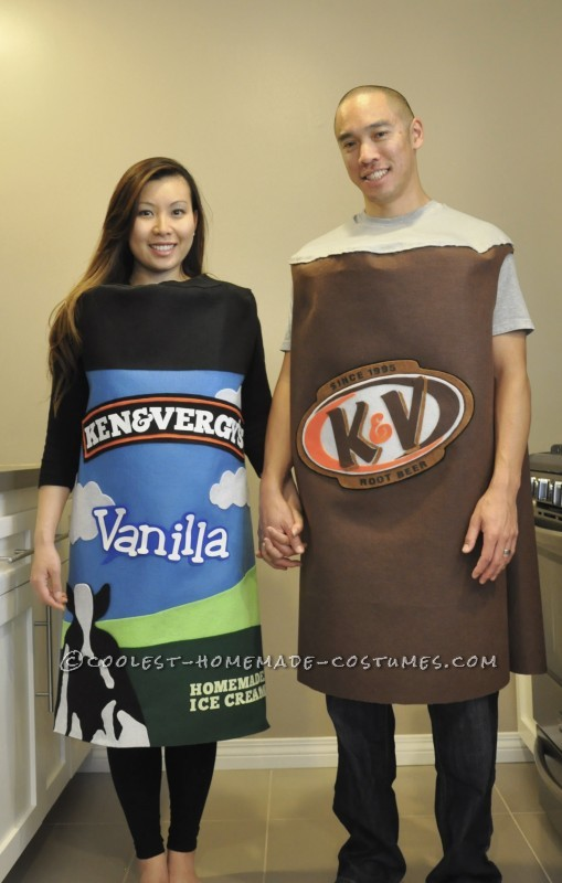 Cool Family Halloween Costume Idea: Root Beer Float