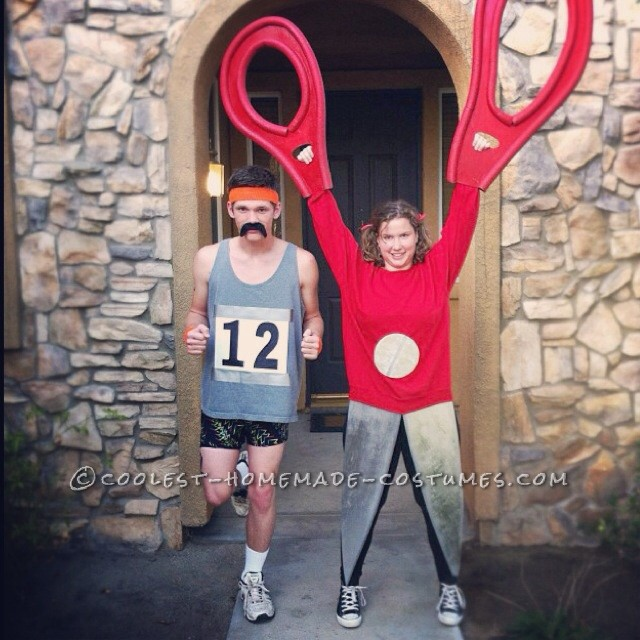 "Unique ""Running with Scissors"" Couple Halloween Costume"