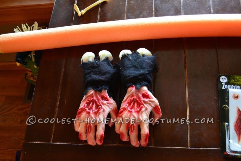 Scary DIY Headless Football Player Halloween Costume
