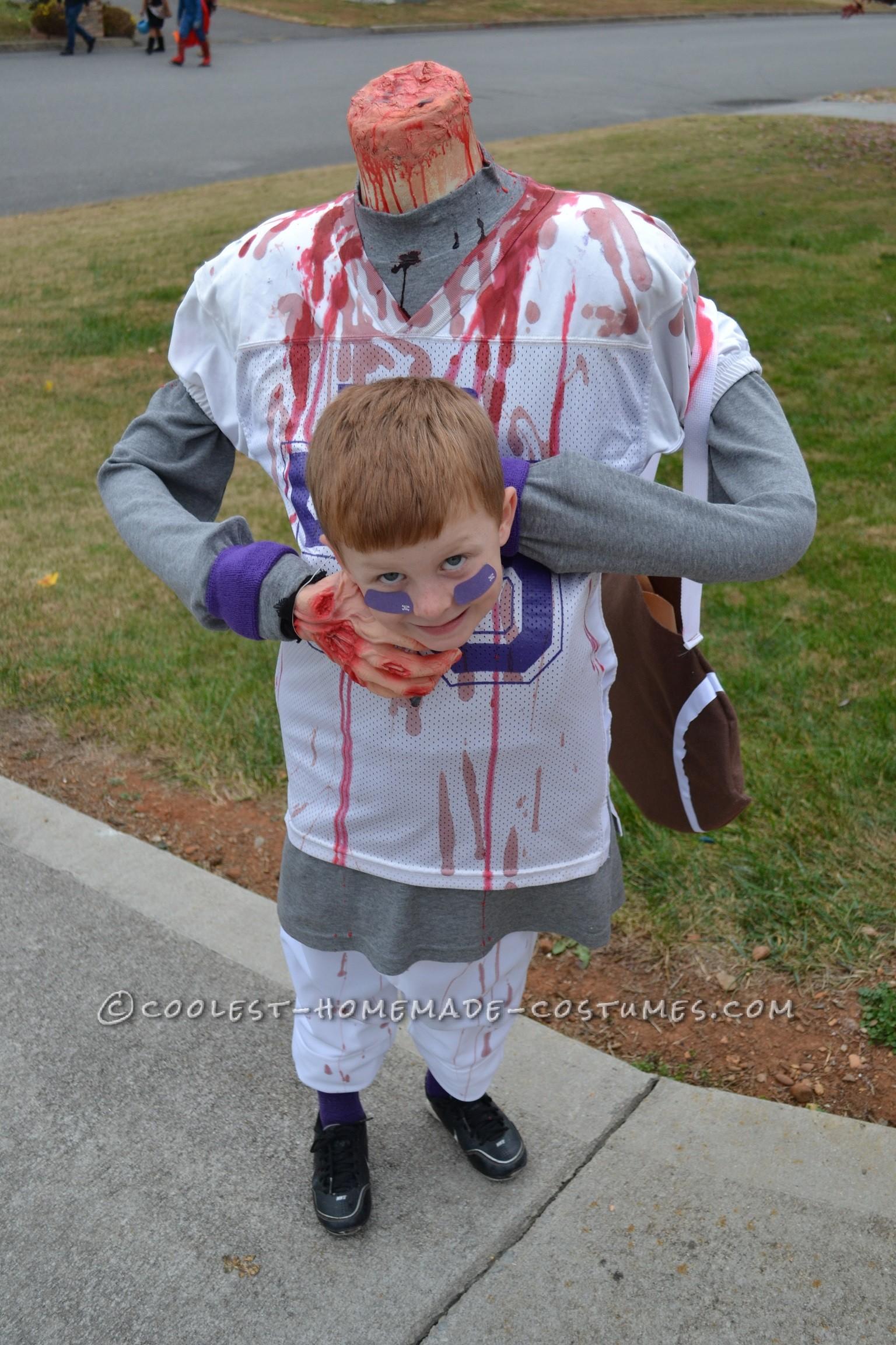 f18241ad22a Scary DIY Headless Football Player Halloween Costume
