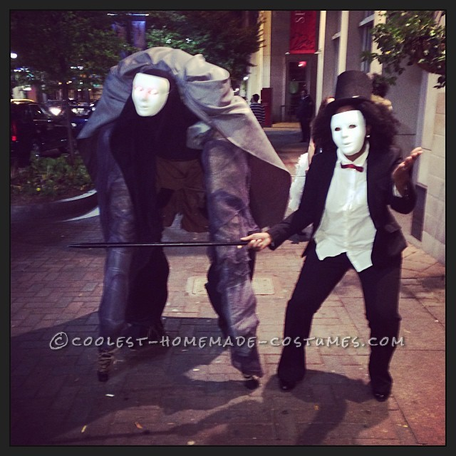Creepy Homemade Costume on Stilts