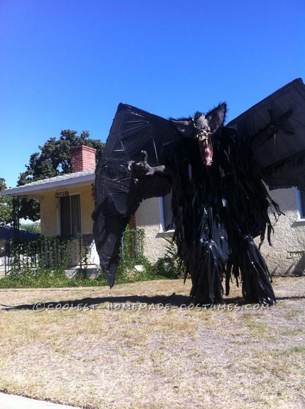 "10-Foot ""Screech"" Bat Halloween Costume on Stilts - 4"