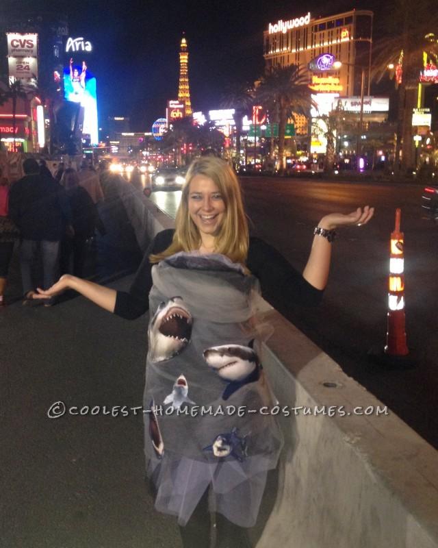 Inexpensive DIY Costume Idea: Sharknado Coming Through!