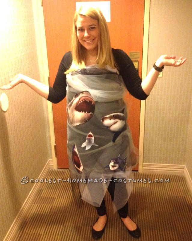 Inexpensive DIY Costume Idea: Sharknado Coming Through! - 2