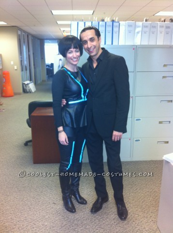 Simple Woman's Tron-Inspired Costume