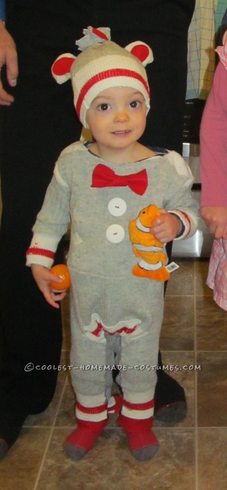 coolest homemade sock monkey toddler halloween costume