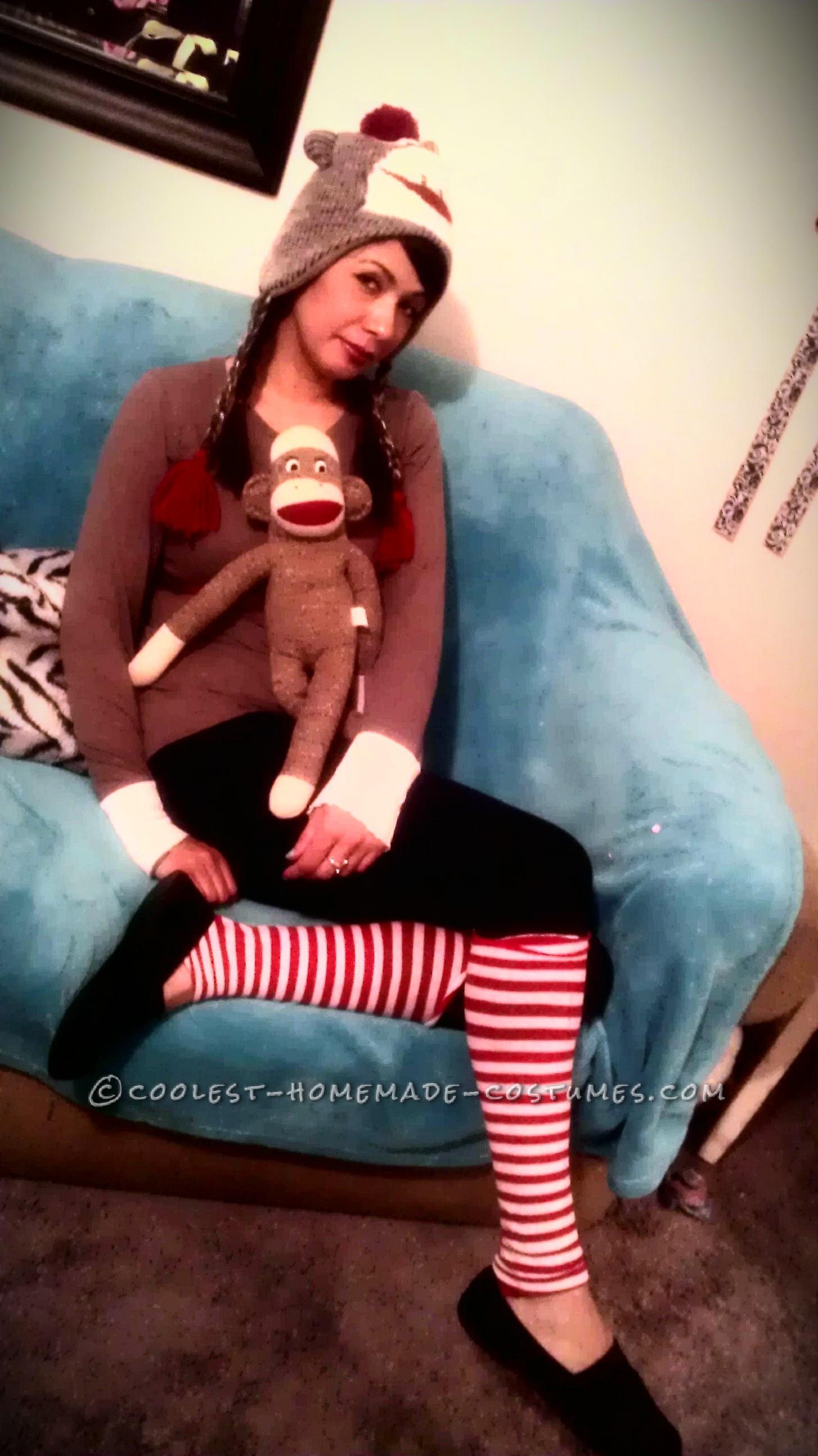 Original Last-Minute Costume Idea: Sock Monkey Lady