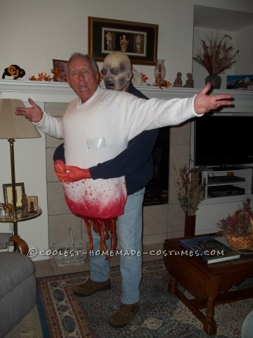 Frightening DIY Zombie Victim Illusion Costume