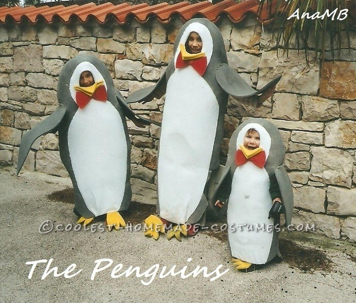 Cool Homemade Group Costume: South Pole Penguins