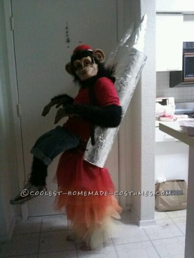 Space Chimp Flying on Rocket Illusion Costume - 1