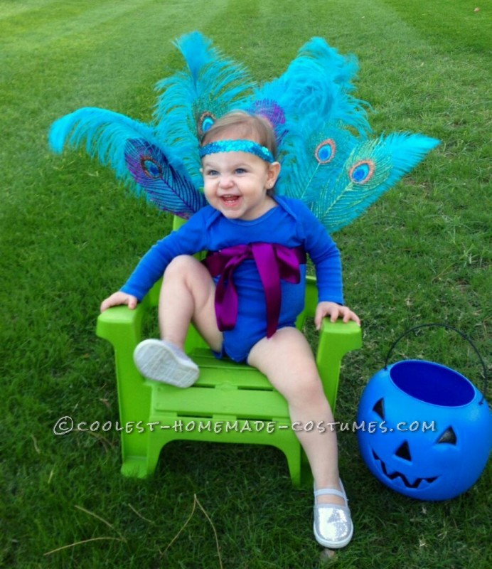 Sparkly Baby Peacock Costume - 1