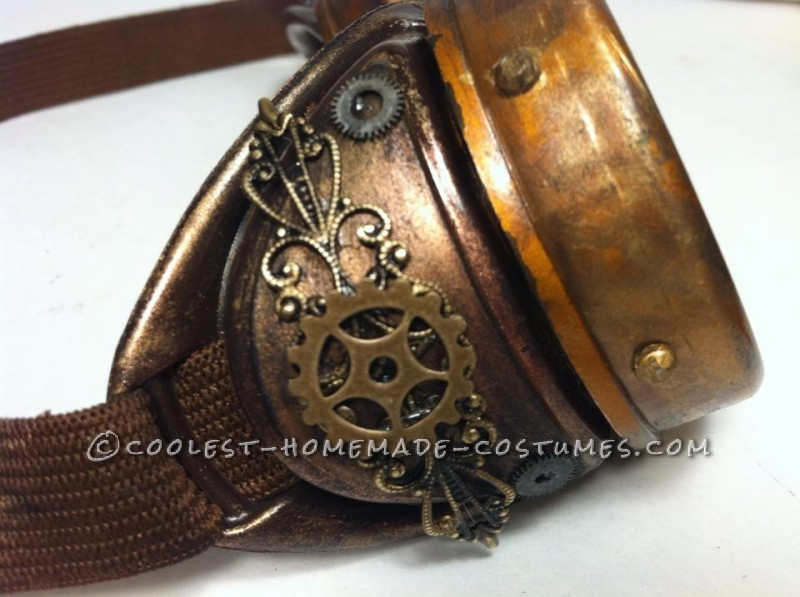 Awesome Steampunk Couple Costume: Steam-Powered Girl and her Creator - 8