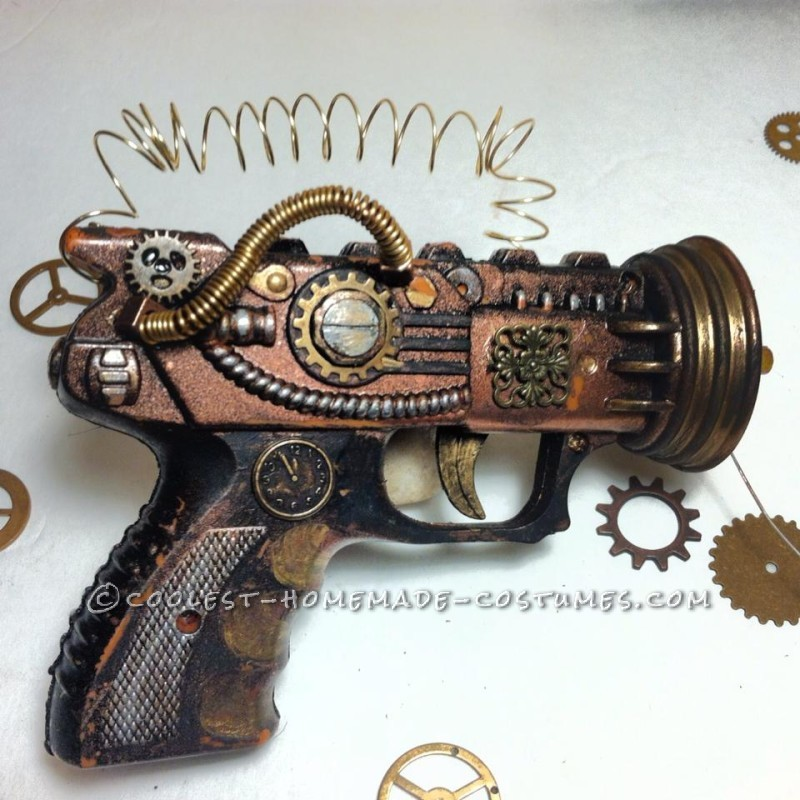 Awesome Steampunk Couple Costume: Steam-Powered Girl and her Creator - 4