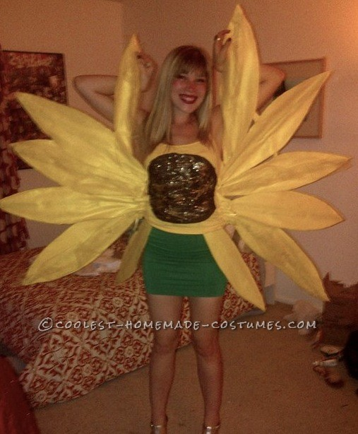 Cool Sunflower Surprise Costume for a Woman