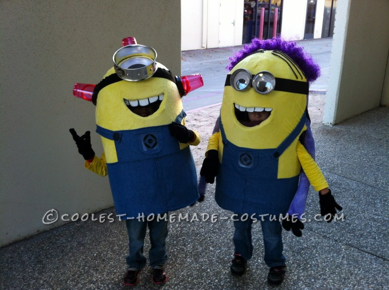 Awesome DIY Despicable Me 2 Costumes: Bee-Do Minion and Half Good Half Evil Minion