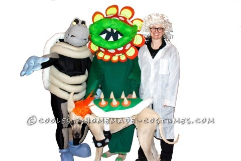 Coolest Homemade Mario Brothers Halloween Costumes: Bowser, Dry Bones and Petey Piranha