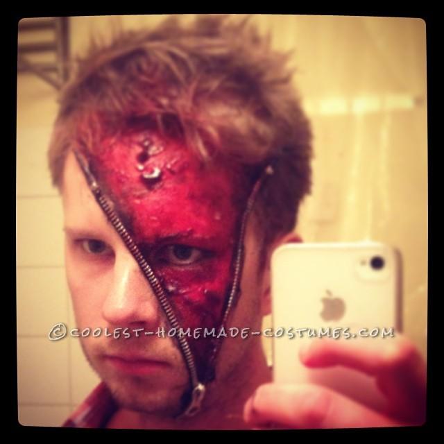 Creepy Swedish Zipper Face Makeup