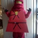 Cool Homemade Red Ninjago Minifigure Costume