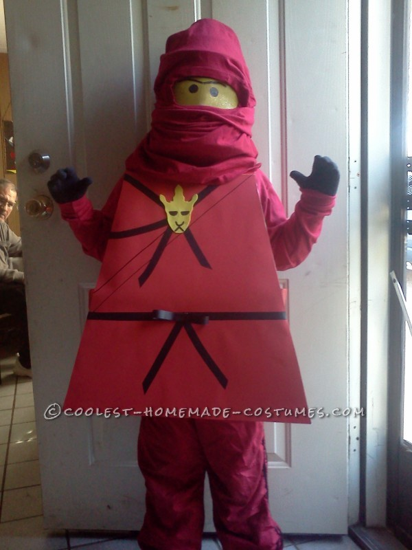Cool Homemade Red Ninjago Minifigure Costume