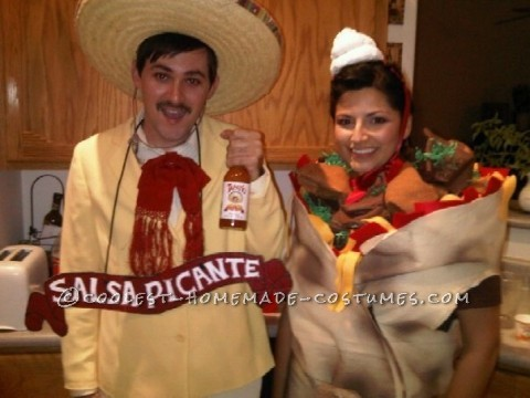 Tapitio Sauce Man and Burrito Girl Couple Costume
