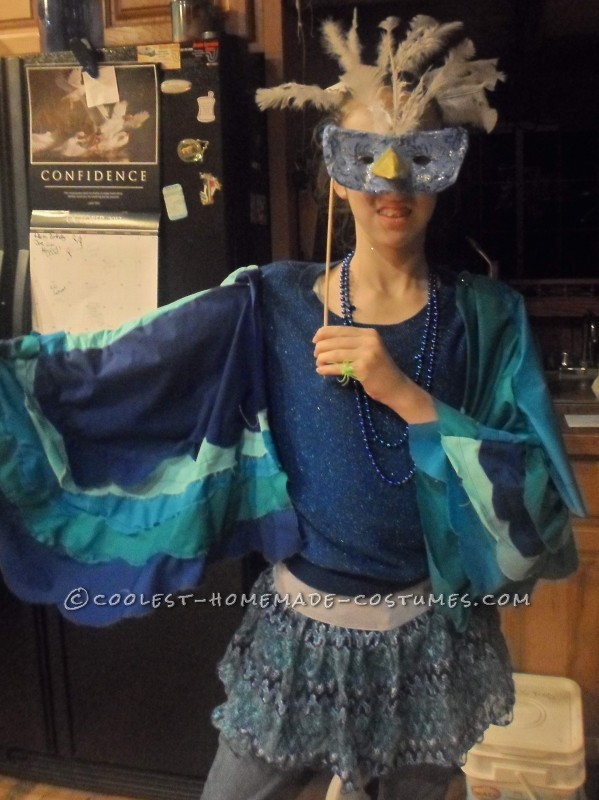 Pretty Blue Bird Costume for a Teen Girl