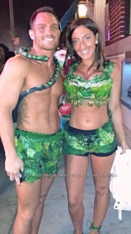 Sexy Adam and Eve Couple Halloween Costume