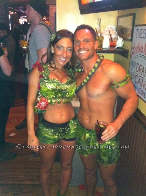 Adam and eve sexy costume