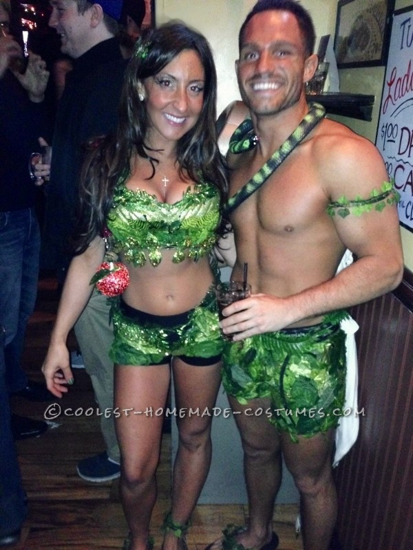 Sexy Adam and Eve Couple Halloween Costume - 8