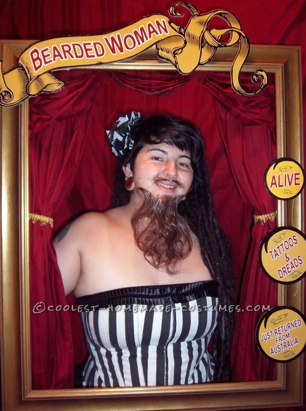 Cool Bearded Lady Costume Circus Sideshow Performer