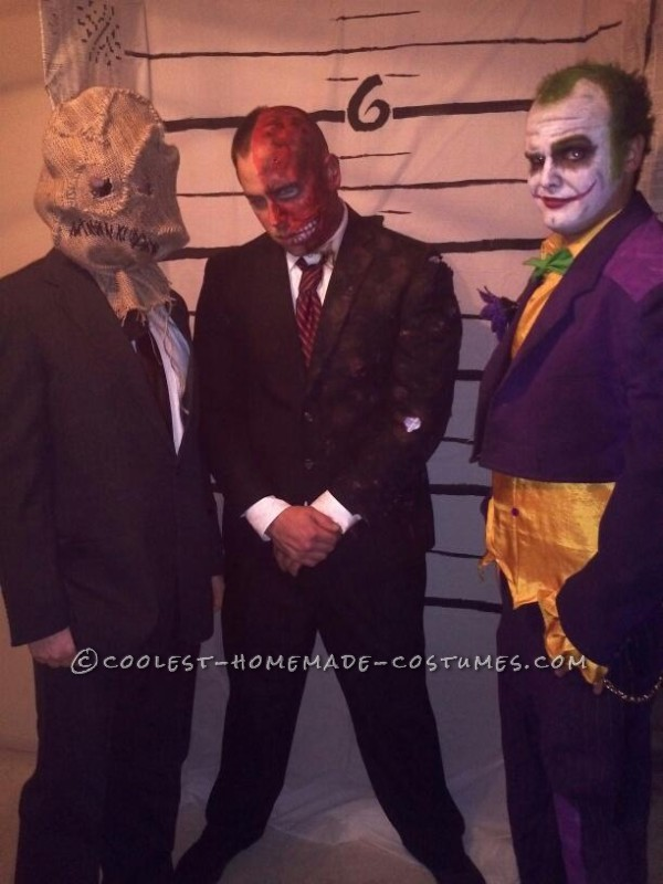 The Scarecrow, Two Face, and the Joker