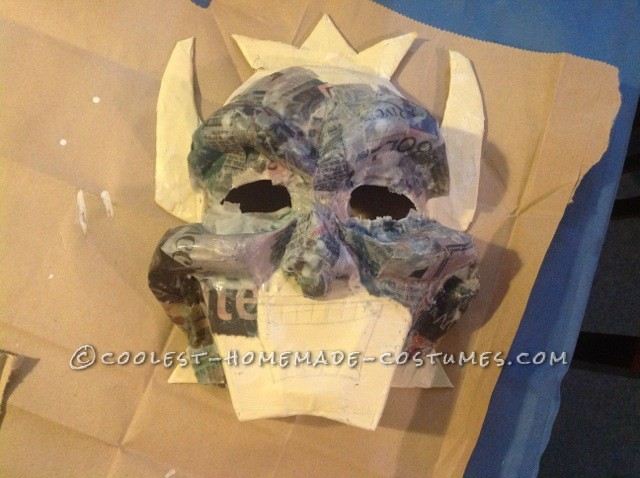 paper mache for 3D details