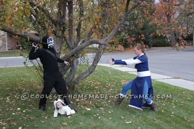 THe Blue Spirit and Katara Fighting