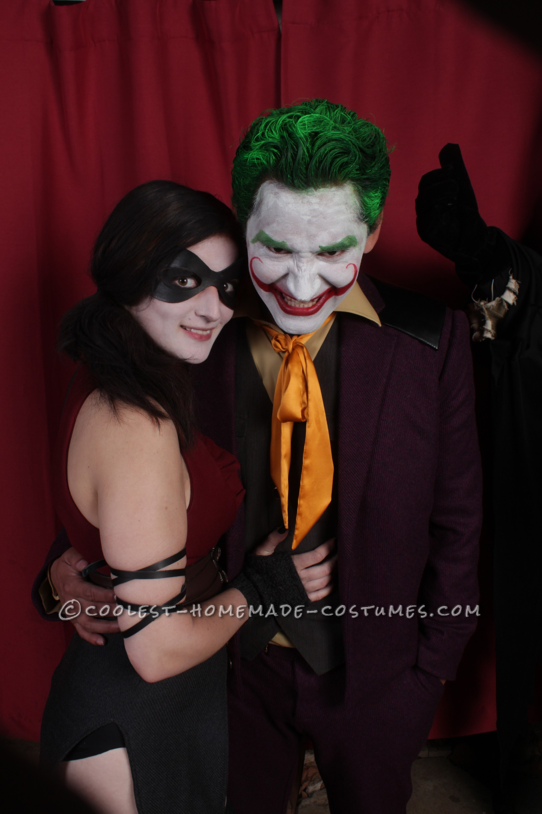 The Comic Joker and his Sexy Lady Harley Quinn Couple Halloween Costume