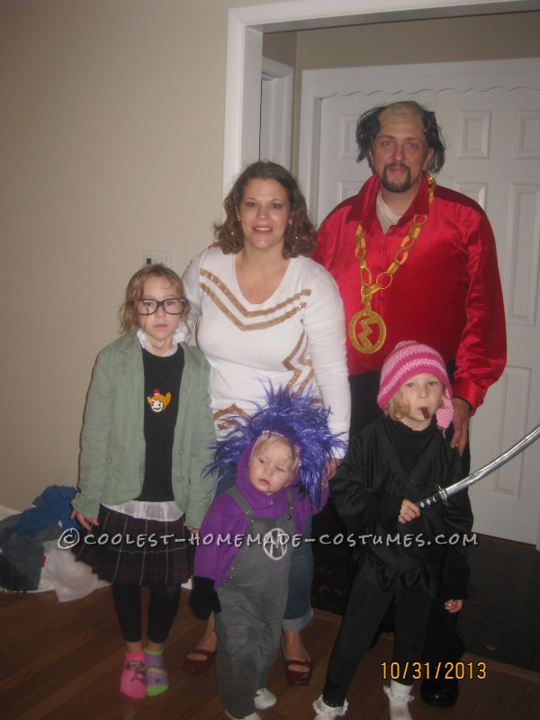 Margo, evin minion, Edith, Mr. Marcho and Jillian
