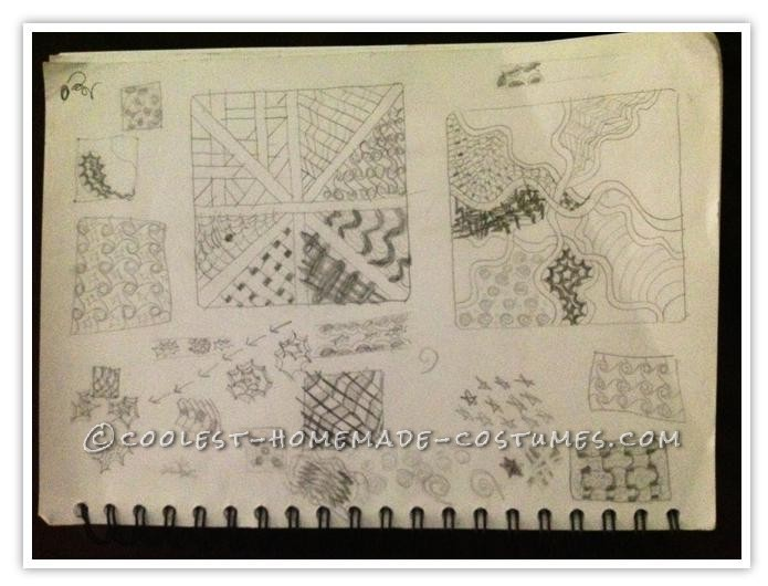 sketchbook where I practiced new patterns